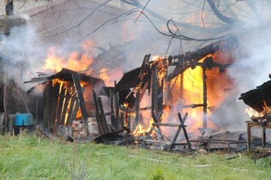 В Кстовском районе сгорел сарай
