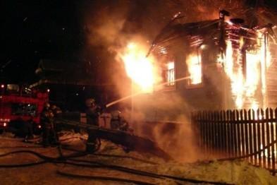 Из-за неосторожного курения сгорел дом в Новом Усаде