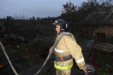 В Павлове на пожаре серьезно пострадал мужчина