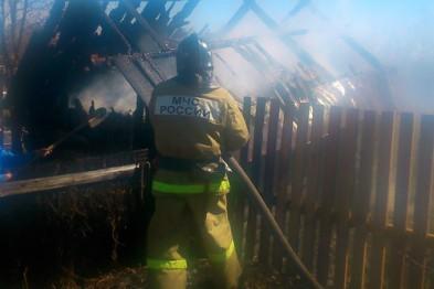 В селе Абрамово Арзамасского района сгорела баня
