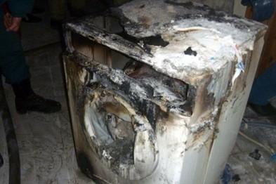 Стиральная машина загорелась в доме №13 по улице Калинина в Арзамасе