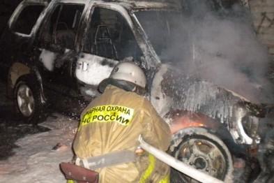 В Дзержинске ночью горел автомобиль