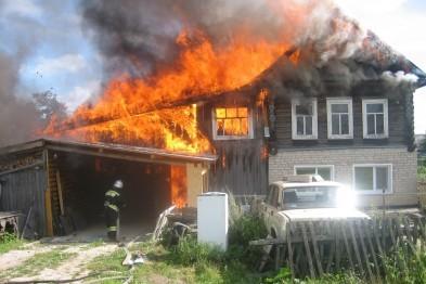 Квартира и дом горели в Арзамасе в минувшие выходные, один человек погиб