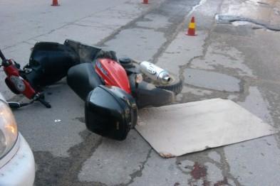 В Арзамасском районе в столкновении с автомобилем пострадал водитель мопеда