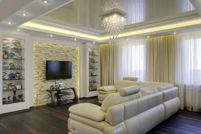Натяжные потолки и дизайн интерьера