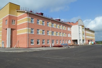 Учебный корпус Выездновской средней школы готов на 97%