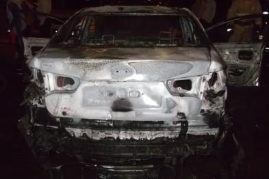 Поджигателей автомобиля задержали в Нижнем Новгороде