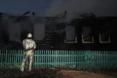 В селе Слизнево полностью сгорел жилой дом