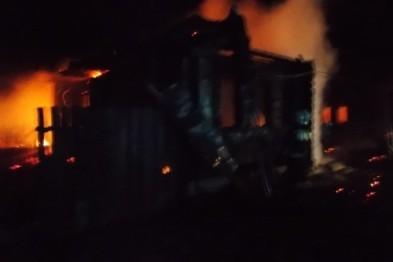 Ночью в селе Виняево сгорел жилой дом