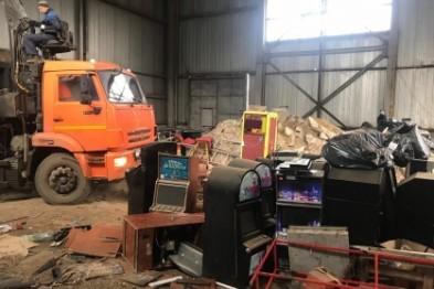 Изъятые игровые автоматы уничтожили в Нижнем Новгороде