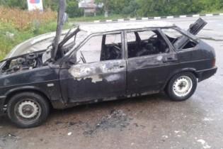 Автомобиль ВАЗ-2109 сгорел на улице Красный путь в результате пожара