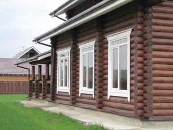 Пластиковые окна в деревянном доме (фото)