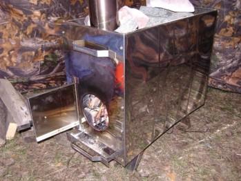 Печи для мобильной бани (фото)
