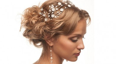 Свадебные прически с цветами для средних волос своими руками (фото)